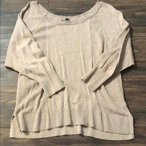American eagle taupe sweater.